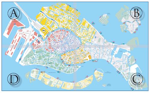 picture relating to Printable Map of Venice identify Obtain a totally free map of Venice Venetian Everyday living