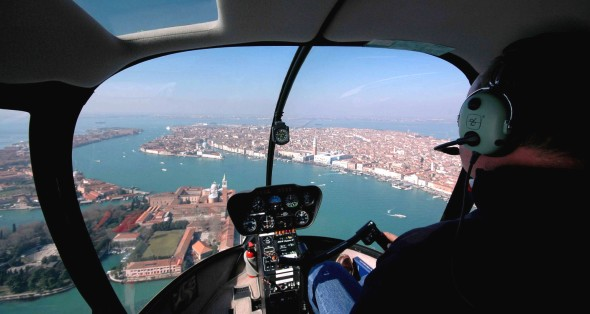 helicopter tour of Venice